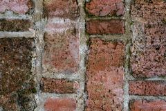 Vintage texture of old brickwork in close view royalty free stock photos