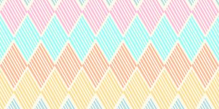 Vintage texture trendy illustration of ethnic navajo hand drawn seamless pattern vector illustration. Stripes geometric pastel Vintage texture trendy vector illustration