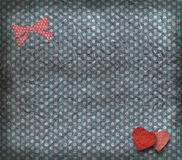 Vintage texture, valentine's card Stock Photography