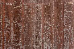 Vintage texture of wooden red paint to crack. Stock Images