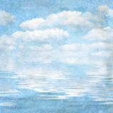 Vintage textured background blue sky vector illustration