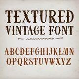 Vintage textured  font Stock Photos