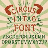 Vintage textured  font Royalty Free Stock Image