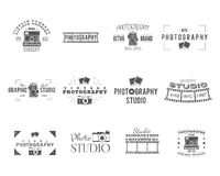 Vintage Textured Photography Badges, Labels Stock Photo