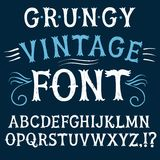 Vintage textured vector font Royalty Free Stock Photos