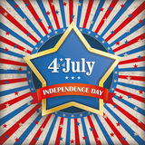 Vintage 4th July Golden Star Royalty Free Stock Images