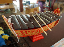 Vintage Thai Alto Xylophone, A traditional Thailand Musical Inst Stock Photo