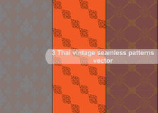 Vintage thai style seamless patterns vector abstract background Stock Photography