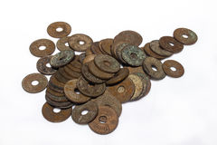 Vintage Thailand coins Royalty Free Stock Photos