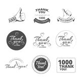 Vintage Thank you badges Stock Image
