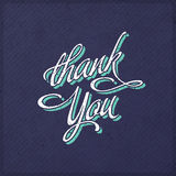 Vintage Thank You Card Stock Photo
