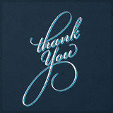 Vintage Thank You Card Royalty Free Stock Photo