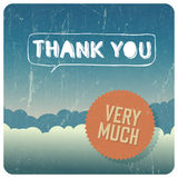 Vintage Thank You card. Vector Stock Photography