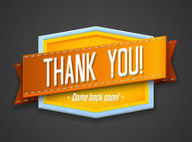 Vintage thank you label Stock Photography