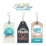 Vintage thank you labels Royalty Free Stock Images