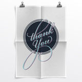 Vintage Thank You Poster Stock Photography
