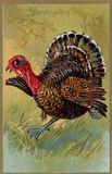 Vintage Thanksgiving Day card. Vintage Thanksgiving Day postal greeting card Royalty Free Stock Photo