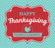 Vintage Thanksgiving Day Card Royalty Free Stock Image