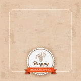 Vintage Thanksgiving Foliage Frame Emblem Royalty Free Stock Photo