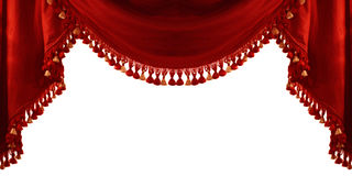 Vintage theater curtain Royalty Free Stock Image