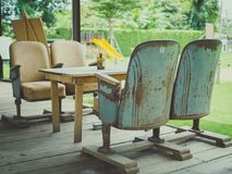 Vintage Theater Seats royalty free stock photography