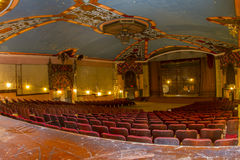 Vintage theater stage and seats Royalty Free Stock Images