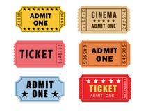 Vintage Theatre Tickets Stock Image