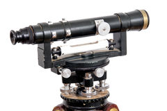 Vintage theodolite over white background Royalty Free Stock Photography