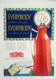 Vintage Thermos Advertisement Stock Image
