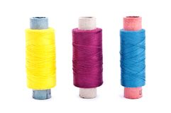 Vintage thread coils Stock Photos