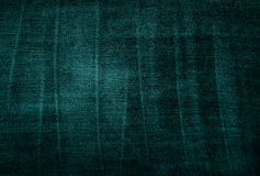 Vintage threadbare green fabric texture Stock Photos