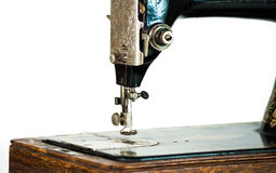Vintage threaded sewing machine Royalty Free Stock Photos