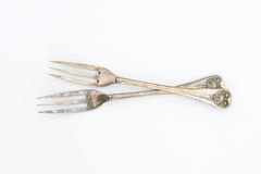 Vintage three-tine forks Royalty Free Stock Image