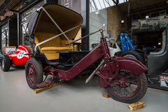 Vintage three-wheeled vehicle (coach) Stock Photos