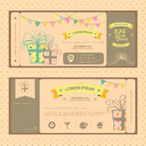 Vintage ticket for birthday party or other fun par. Vintage ticket for birthday party or other any kind of fun celebration party, create by vector Royalty Free Stock Image