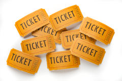 Vintage ticket stubs Royalty Free Stock Images