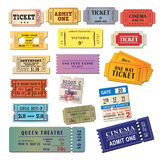 Vintage tickets. A  set of vintage tickets Royalty Free Stock Photo