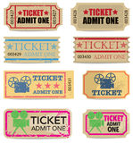 Vintage Tickets Stock Image