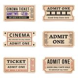 Vintage tickets and coupons Stock Photo
