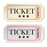 Vintage tickets Royalty Free Stock Photography