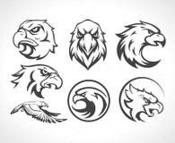 Vintage Tiger Logotype o emblema de la mascota Imagenes de archivo