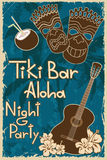 Vintage Tiki bar poster Royalty Free Stock Images