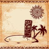 Vintage Tiki illustration Royalty Free Stock Photos