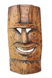 Vintage Tiki Mask. Isolated on white Stock Photos