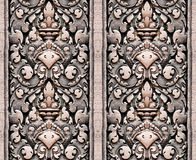 Vintage tile-able wall pattern Stock Image