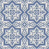 Vintage tile patterns can be used for wallpaper, pattern fills, web page background, surface textures. Oriental pattern with damask, arabesque and floral Stock Image