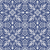 Vintage tile patterns can be used for wallpaper, pattern fills, web page background, surface textures. Oriental pattern with damask, arabesque and floral Royalty Free Stock Photo