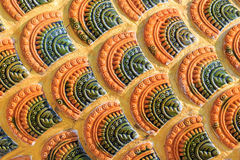 Vintage tile texture in temple Stock Images