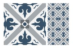 Vintage tile vector Royalty Free Stock Photo
