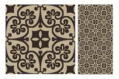 Vintage tile vector Royalty Free Stock Image